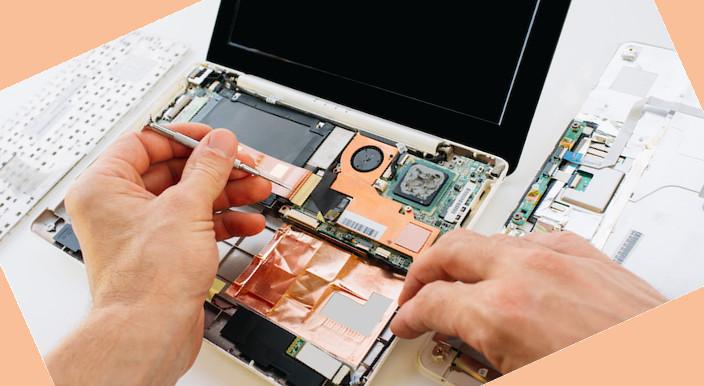 Inside laptop